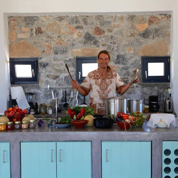 The Happiness Retreat Blue Bliss Esco Essence Vegan Raw Food Artist Chef