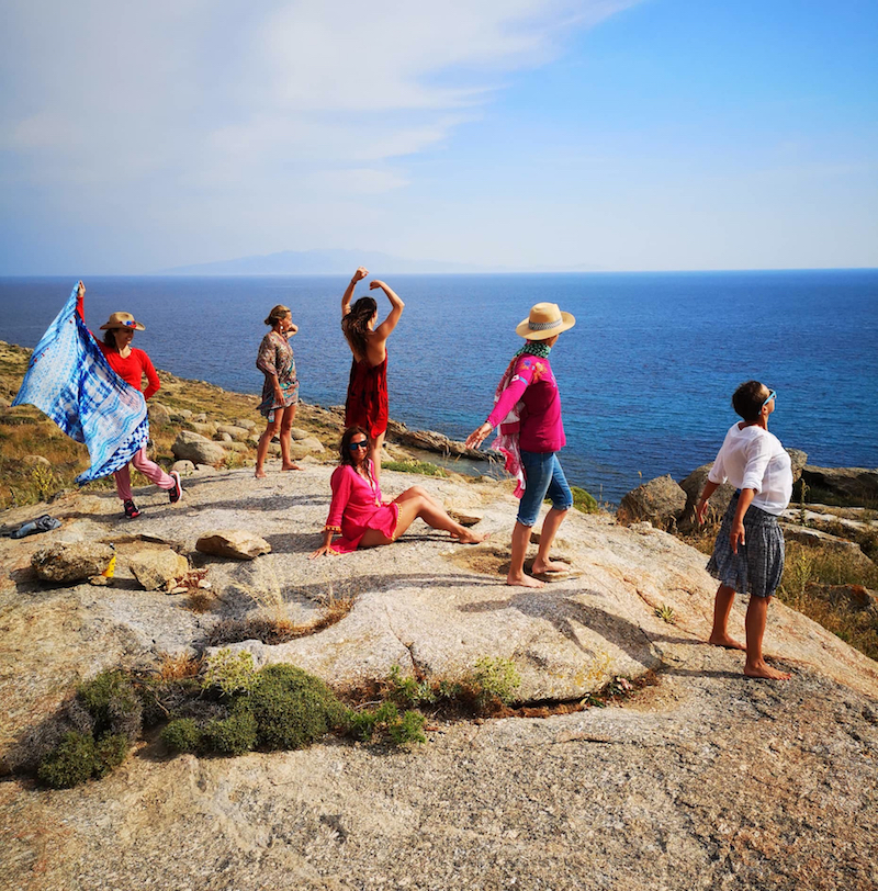 Happiness Retreat Participants in Delos island Dreaming Wide Awake 2019