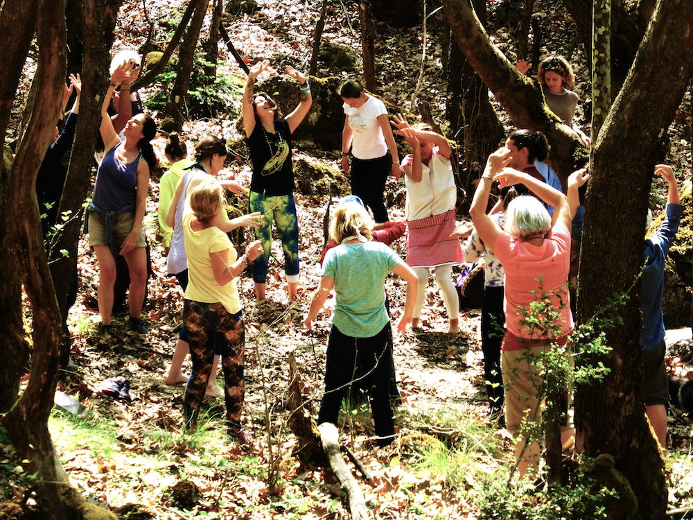 The Happiness Retreat Spirit contact Dance in the Forrest Waterfalls Apostolia Papadamaki