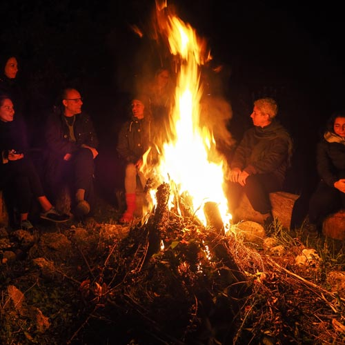 The Happiness Retreat - Waterfall Spirit - Sharing Circle Practice and Fire Ritual